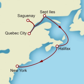 Quebec City to New York Cunard Cruise