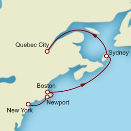 New York to Quebec City Cunard Cruise