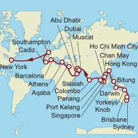 Sydney to New York World Sector Cunard Cruise