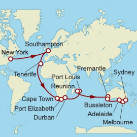New York to Sydney World Sector Cunard Cruise