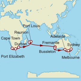 Cape Town to Sydney World Sector Cunard Cruise