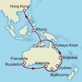 Fremantle to Hong Kong World Sector Itinerary