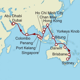 Sydney to Dubai World Sector Cunard Cruise