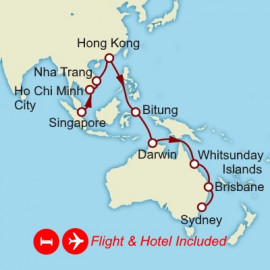 Fly Stay Asia and Australia Itinerary