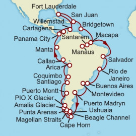 South America Roundtrip Fort Lauderdale Cunard Cruise
