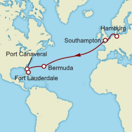 Westbound Transatlantic Crossing to Fort Lauderdale Cunard Cruise