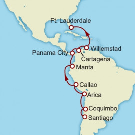 Santiago to Fort Lauderdale Itinerary