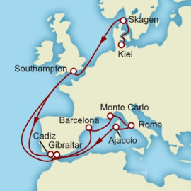 Mediterranean Highlights Cunard Cruise