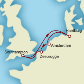 Hamburg Amsterdam and Bruges Cunard Cruise