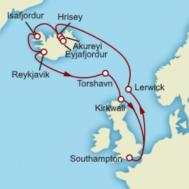 Iceland and British Isles Cunard Cruise