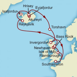 Iceland and British Isles Itinerary