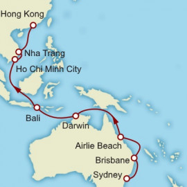 Sydney to Hong Kong Cunard Cruise