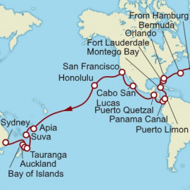 Hamburg to Sydney World Sector Cunard Cruise