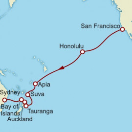 San Francisco to Sydney World Sector Cunard Cruise
