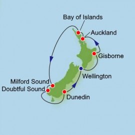 New Zealand Adventure from Wellington Roundtrip Dream Cruises Cruise