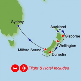 Fly Cruise Holiday Auckland to Sydney Itinerary