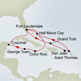Eastern and Western Caribbean Itinerary