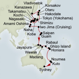 EXC In-Depth Land of the Rising Sun and Pacific Legends Collector Holland America Line Cruise