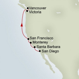 Pacific Coastal Holland America Line Cruise