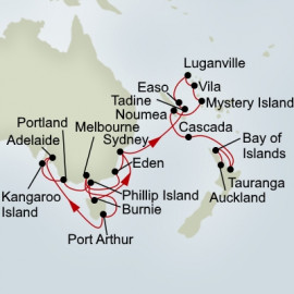 Southern Australian and Pacific Treasures Holiday Holland America Line Cruise
