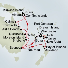 EXC In-Depth Australia Melanesia and The Pacific Islands Collector Holland America Line Cruise