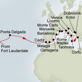 Passage to Spain and Mediterranean Tapestry Holland America Line Cruise