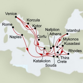 Greek Odyssey and Mediterranean Empires Holland America Line Cruise