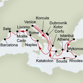 Mediterranean Empires and Romance Itinerary