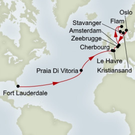 Azores Normandy and Norwegian Fjords Itinerary