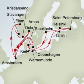 Norwegian Fjords and Baltic Jewels Itinerary