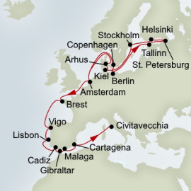 Baltic Jewels and Iberian Adventure Itinerary