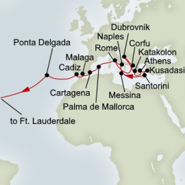 Mediterranean Mosaic and Passage To America Holland America Line Cruise