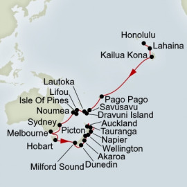 South Pacific and Australia and New Zealand Collector Itinerary