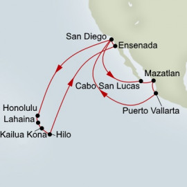 Circle Hawaii and Mexican Riviera Collector Holland America Line Cruise