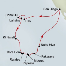 Hawaii Tahiti and Marquesas Holland America Line Cruise