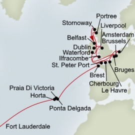 Fort Lauderdale to Amsterdam Holland America Line Cruise