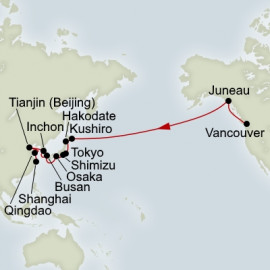 North Pacific Crossing and Japan and China Collector Holland America Line Cruise