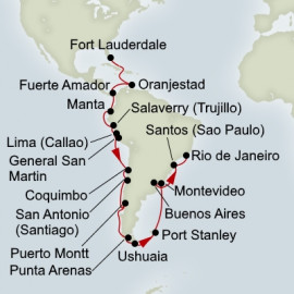Panama Canal Inca and South America Discovery Holland America Line Cruise
