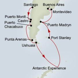South America and Antarctica Itinerary