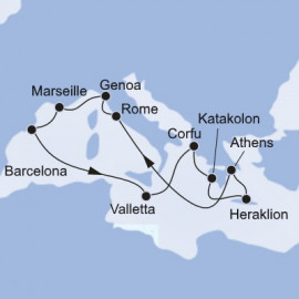 West and East Mediterranean MSC Cruises Cruise