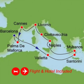 Fly Stay Grand Mediterranean Itinerary