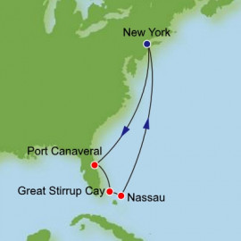 Bahamas and Florida from New York Itinerary