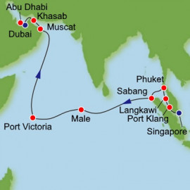 Southeast Asia and Abu Dhabi Norwegian Cruise Line Cruise