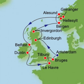 British Isles Norway and Ireland Itinerary