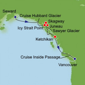 Alaska with Inside Passage Itinerary