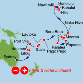 Fly Stay Package Honolulu to Sydney Norwegian Cruise Line Cruise