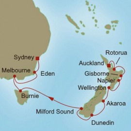 Tasman Sea Traveler Itinerary
