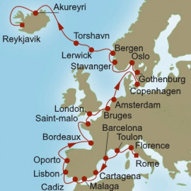 Pinnacle of Europe Itinerary