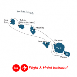 Fly Stay Society Islands and Tahiti Iti Paul Gauguin Luxury Cruise Australia Cruise
