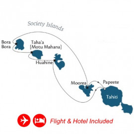 Fly Hotel Cruise Holiday Tahiti and Society Islands Itinerary